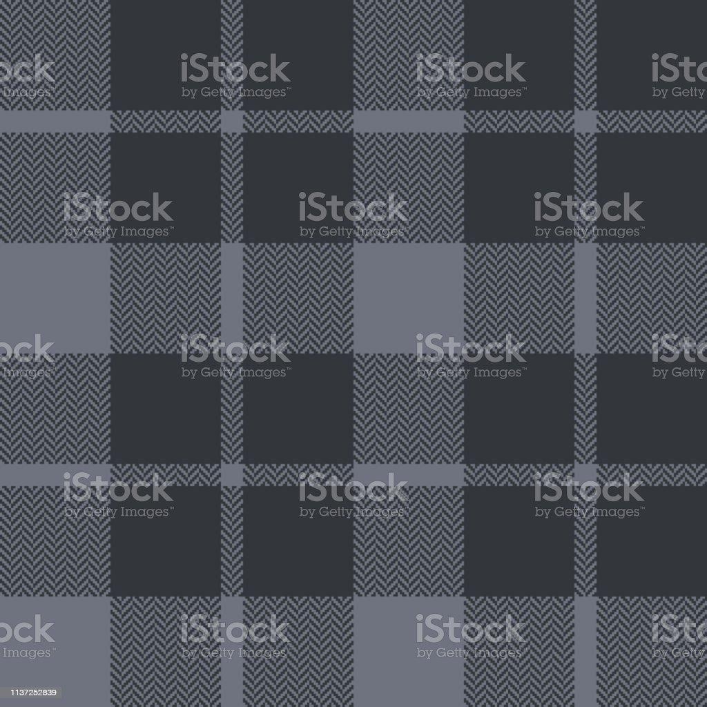 Dark grey tartan check plaid pattern vector. Seamless plaid pattern...