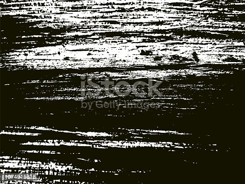 Vector Illustration Black and White of a Dark Grunge Vector Texture
