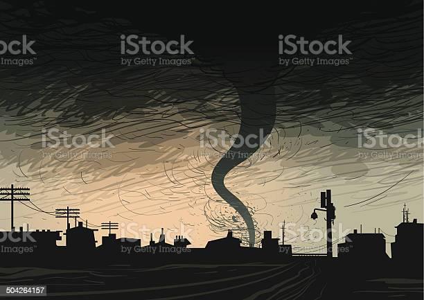 Dark Hurricane Stock Illustration - Download Image Now