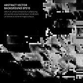 istock Dark image in the style of glitch. 1319115821