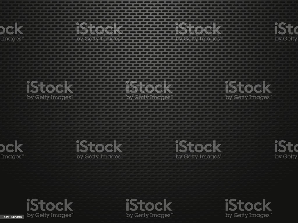 dark metallic perforated sheets vector art illustration
