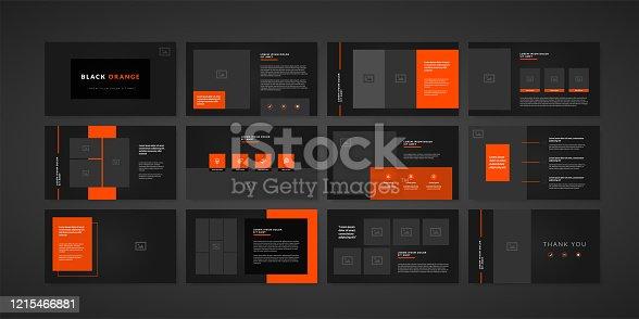 Dark minimal slides presentation background template. business presentation template.