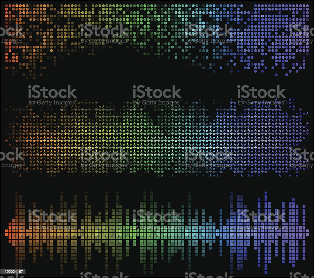 Dark mosaic banners. royalty-free dark mosaic banners stock vector art & more images of abstract