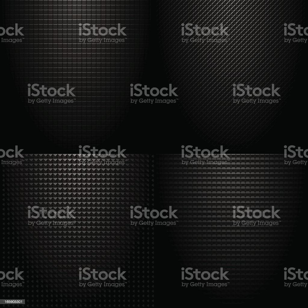 Dark ominous checked tile pattern on black background royalty-free stock vector art