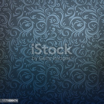 Ornamental seamless pattern. Dark gothic style background