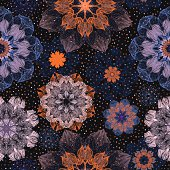 EPS 10! Vector ornate floral seamless pattern