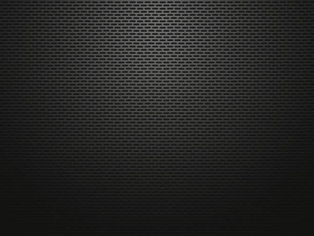 dark perforated metallic background vector art illustration