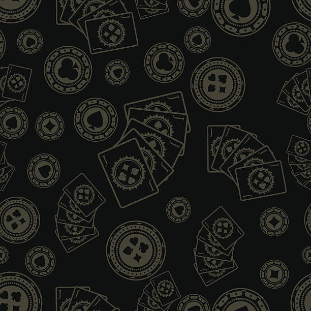 Dark poker pattern Seamless pattern poker stock illustrations