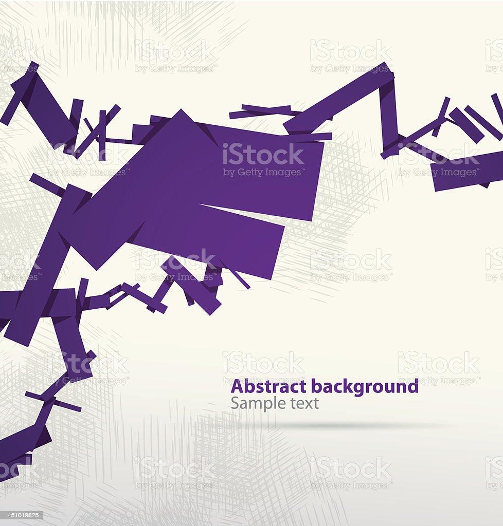 Dark purple abstract cubist banner royalty-free stock vector art