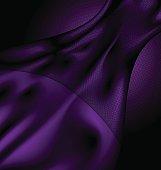 dark purple silk and veil