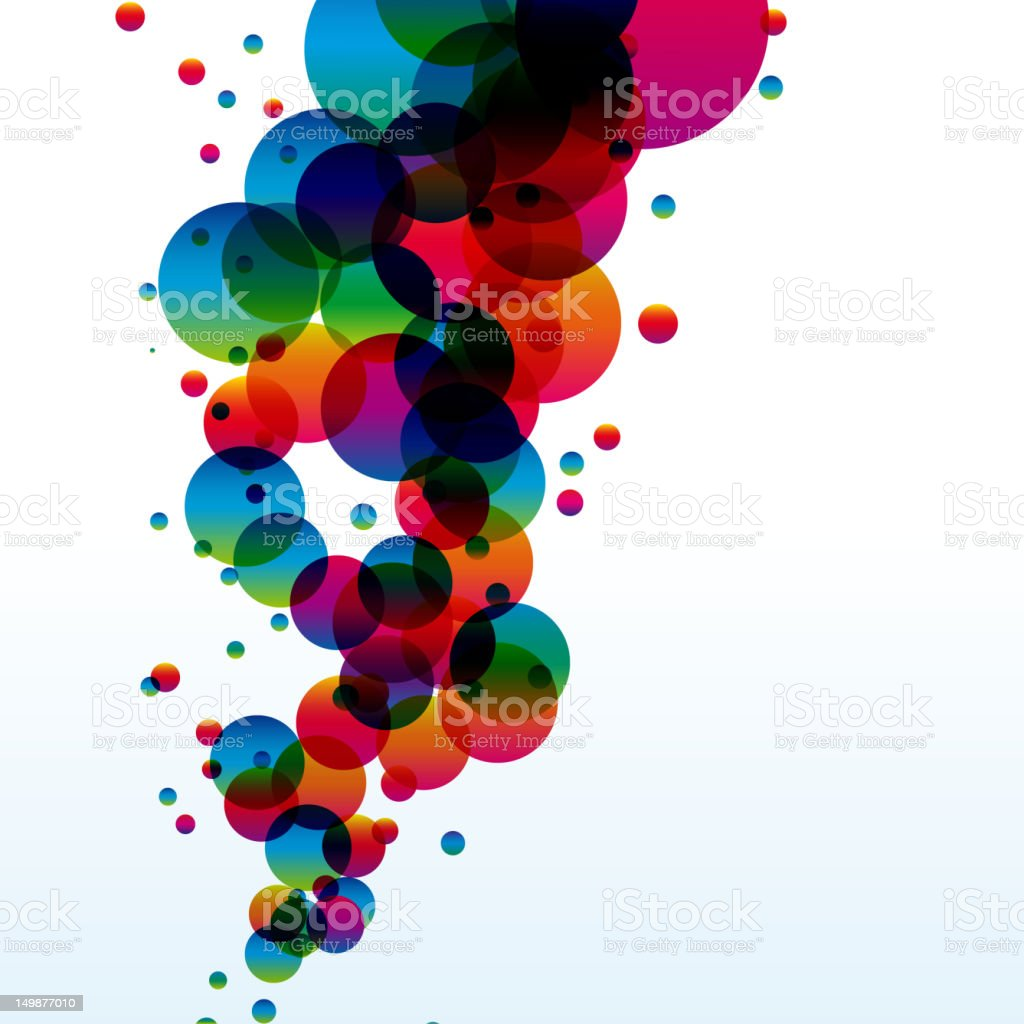 Dark rainbow bubbles abstract background royalty-free stock vector art