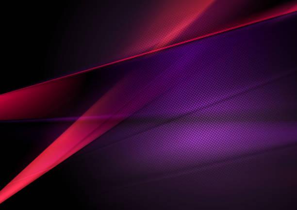 ciemnoczerwone i fioletowe abstrakcyjne błyszczące tło - ciemny stock illustrations