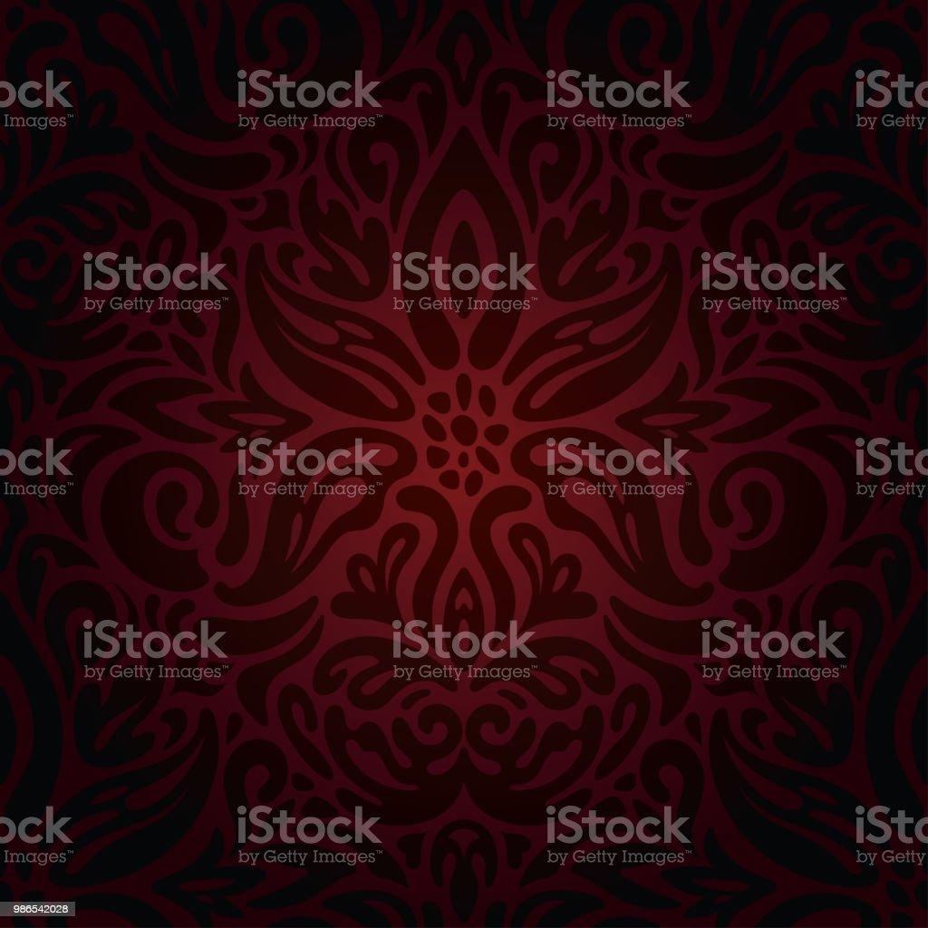 Dark red brown wallpaper seamless vector decorative design background векторная иллюстрация