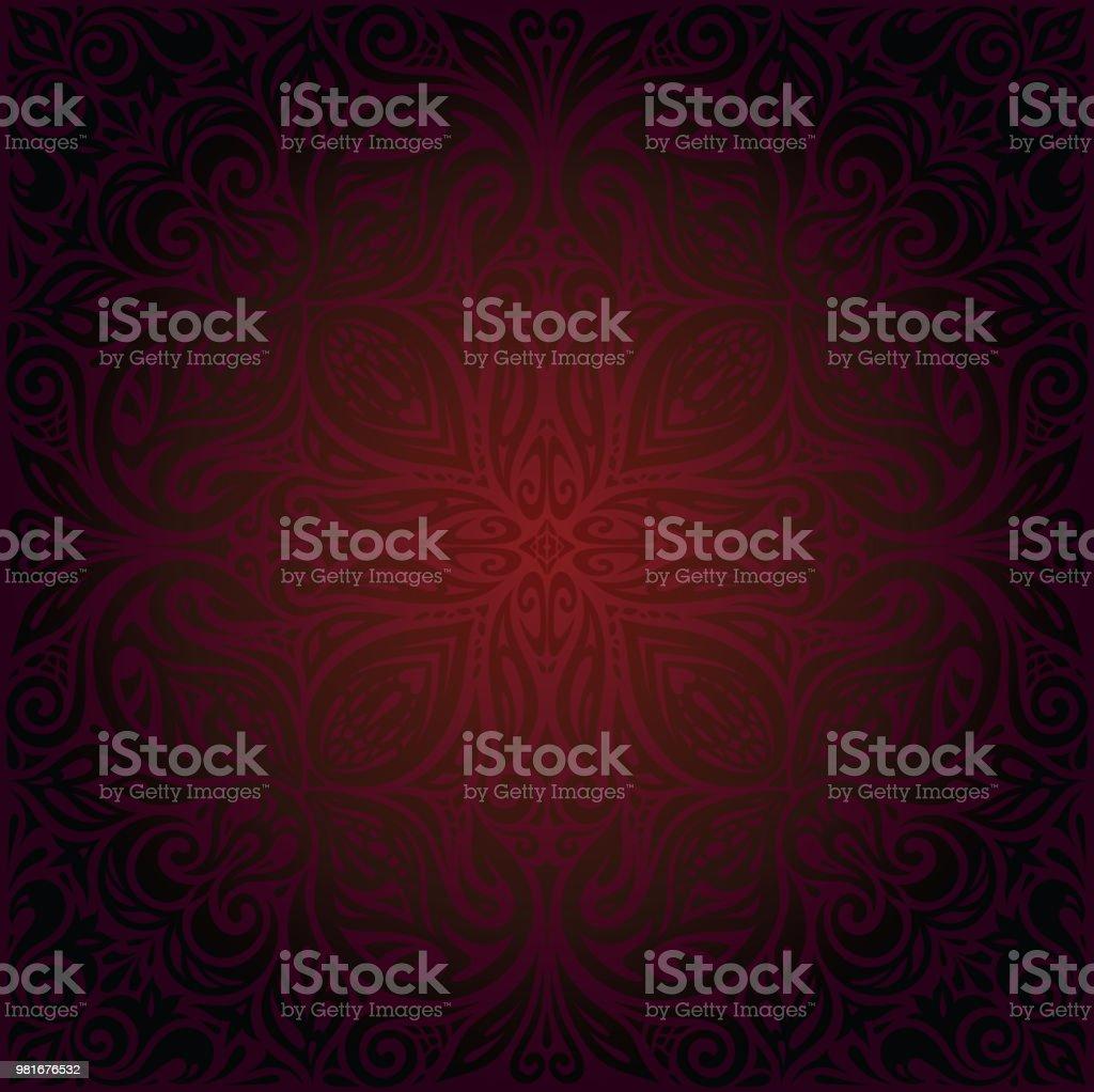 Dark red brown wallpaper seamless vector design background векторная иллюстрация
