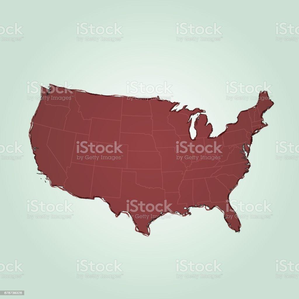 ABD koyu kırmızı şeyler karaladı harita üzerinde parlayan kare arka plan royalty-free abd koyu kırmızı şeyler karaladı harita üzerinde parlayan kare arka plan stok vektör sanatı & ahşap'nin daha fazla görseli