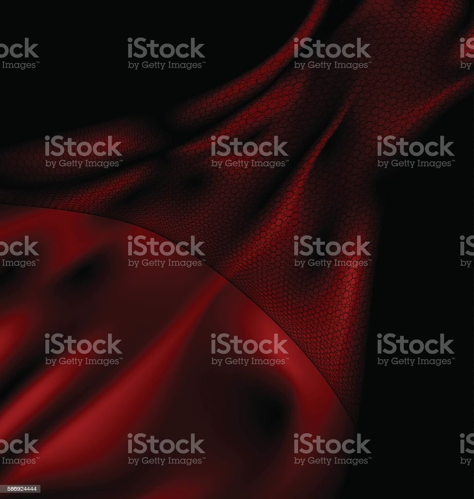 dark red silk and veil vector art illustration