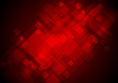 Dark red tech geometric squares abstract background. Vector design template