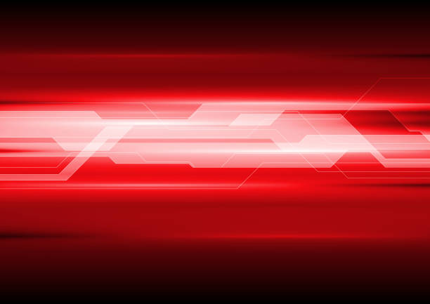 Dark red technical abstract background vector art illustration