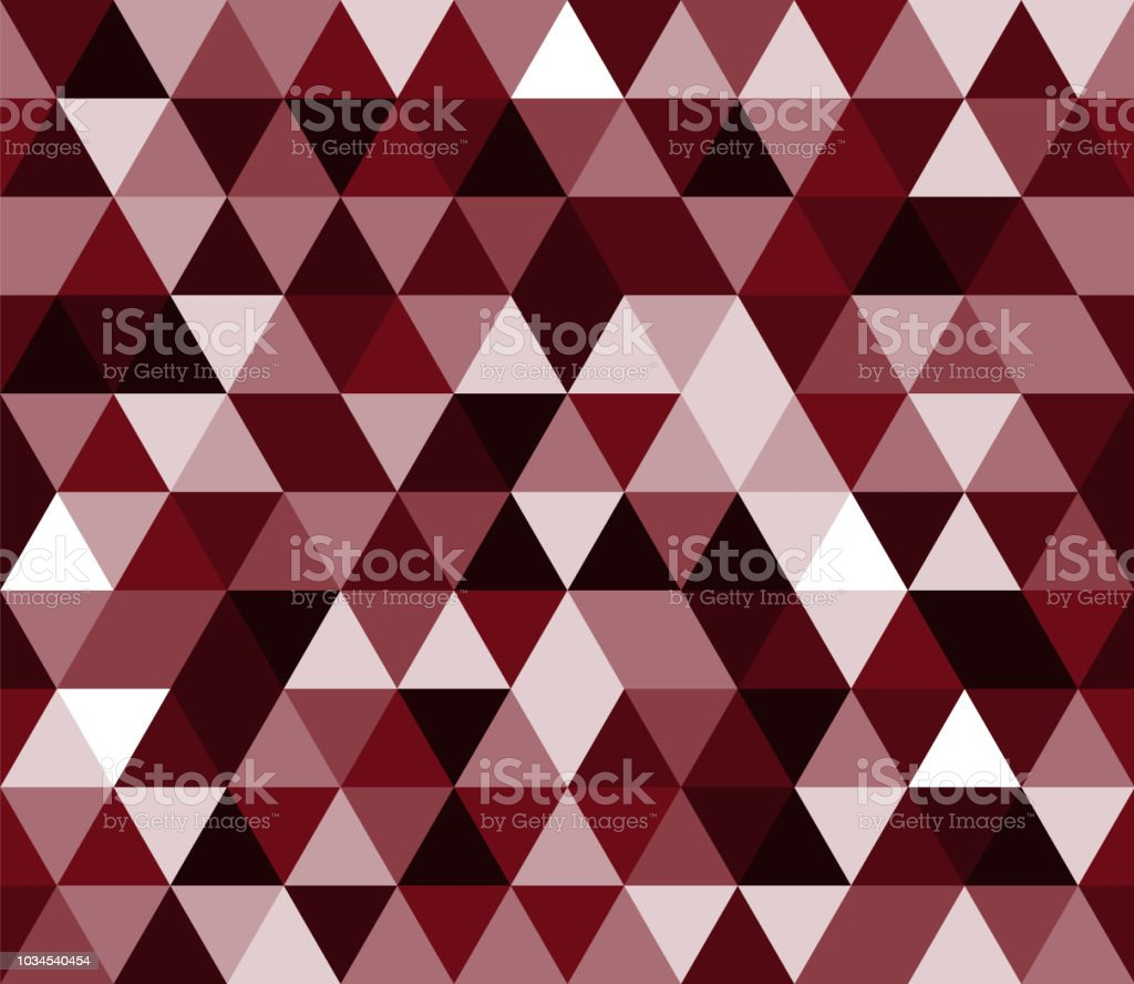 Dark Red White Black Triangular Seamless Pattern Geometric Vector