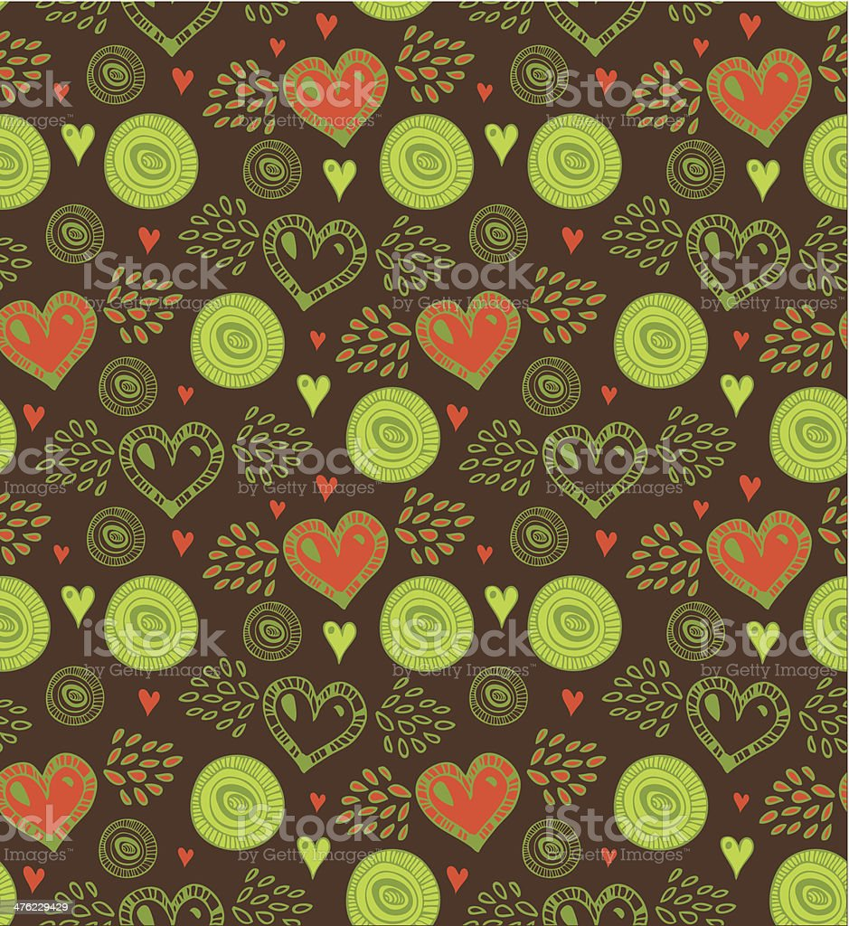 Dark seamless pattern with various hearts and circles royalty-free dark seamless pattern with various hearts and circles stock vector art & more images of abstract