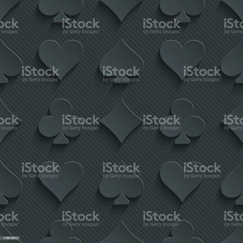 Dark seamless vector background with 3D effect. vector art illustration