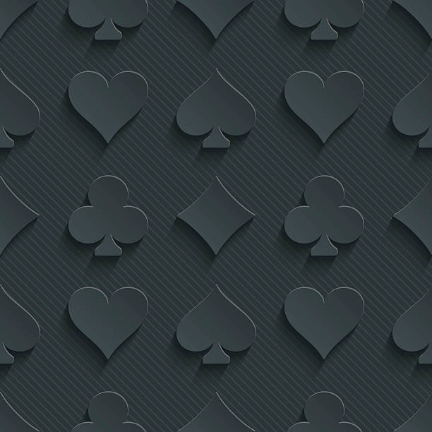 Dark seamless vector background with 3D effect. Dark seamless vector background with 3D effect. Full editable vector EPS10 tileable wallpaper. casino stock illustrations