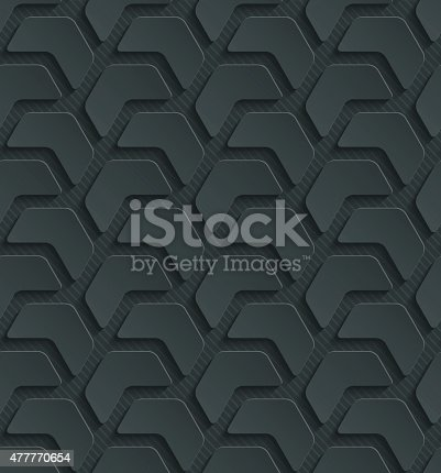 istock Dark seamless vector background with 3D effect. 477770654