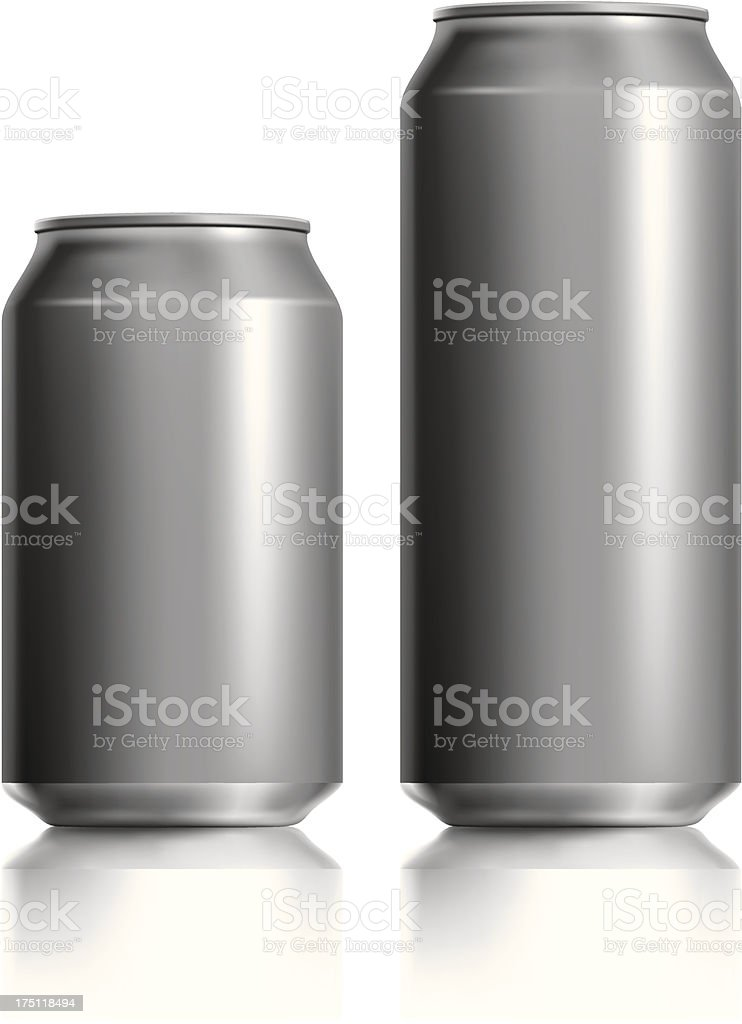 Dark silver can vector visual 330 & 500 ml royalty-free dark silver can vector visual 330 500 ml stock vector art & more images of alcohol
