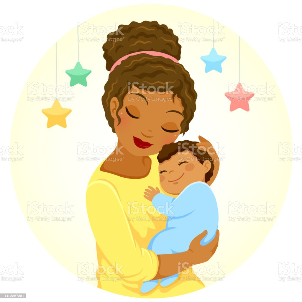 Dark Skinned Mother And Baby Stock Illustration Download Image Now Istock