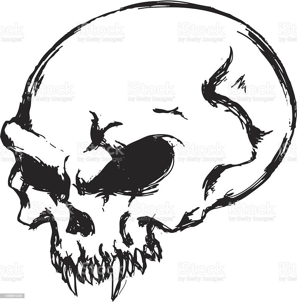 Dunkle Totenkopf Stock Vektor Art und mehr Bilder von ...