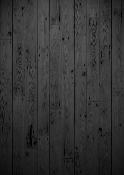 Dark stained Wooden boards vector art illustration