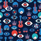 trendy seamless british pattern pop art style