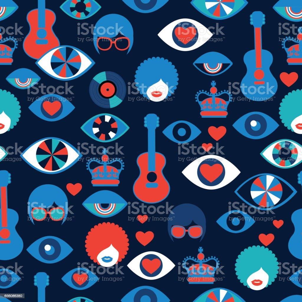 dark trendy vector seamless british pattern vector art illustration