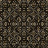 Dark Wallpaper Chinese Pattern, vector