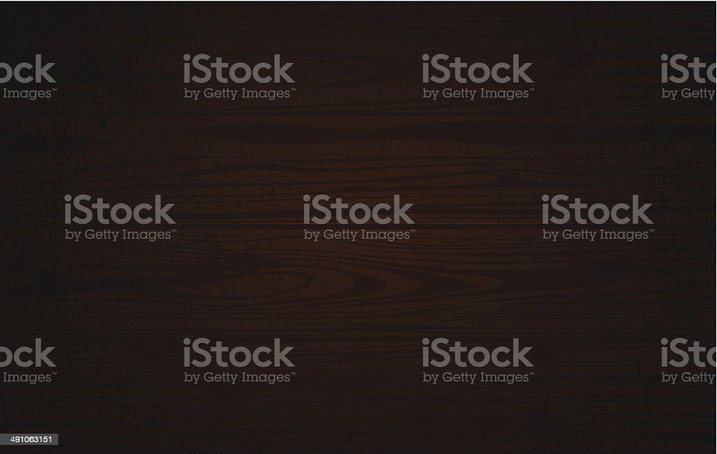 Dark wooden background vector art illustration