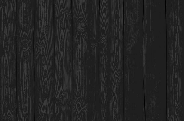 Dark Wooden Texture vector art illustration