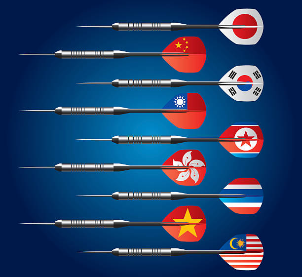 dart コレクションは、アジアの旗 - 韓国の国旗点のイラスト素材/クリップアート素材/マンガ素材/アイコン素材