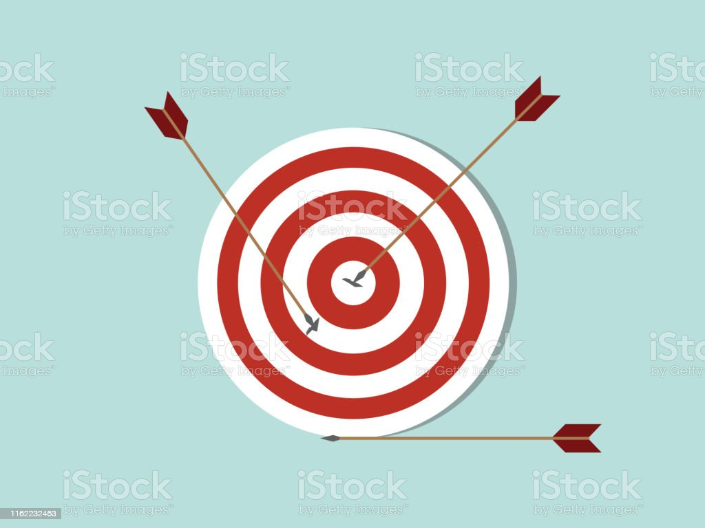 dart goals target business concept icon with arrow spread on target...