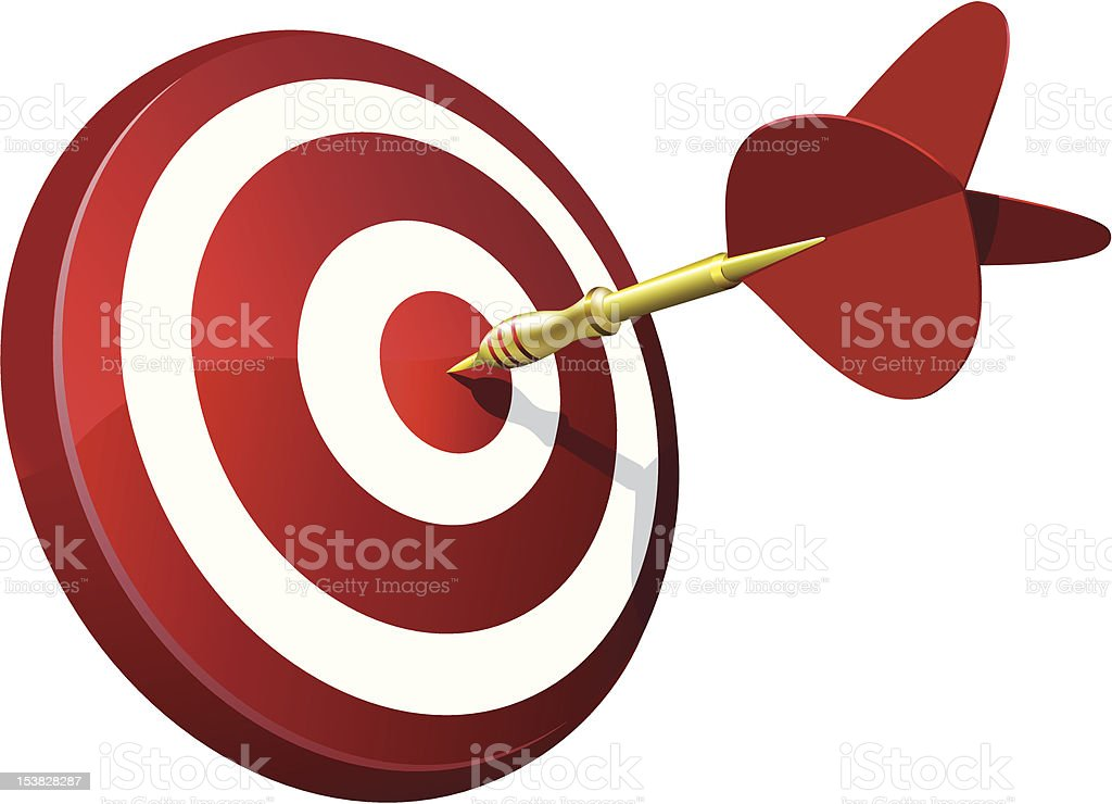 Dart Hitting A Target royalty-free dart hitting a target stock vector art & more images of accuracy