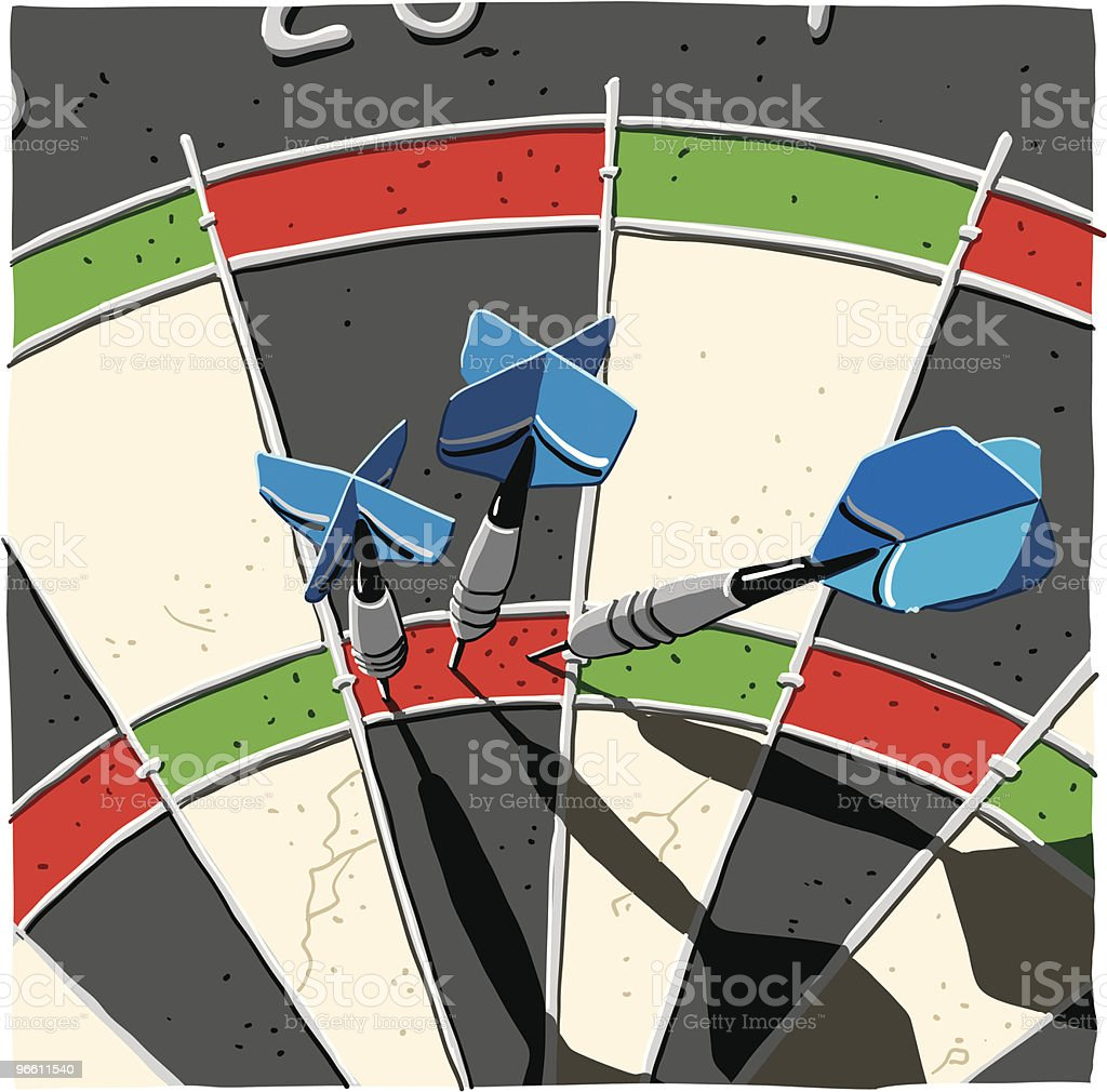 Dart Maximum Score 180 royalty-free stock vector art