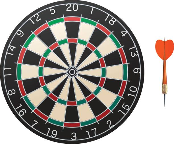 Dart Darts set isolated on white vector dart stock illustrations