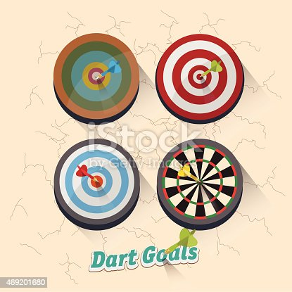 921518946istockphoto dartboard collection for darts game - vector illustration 469201680