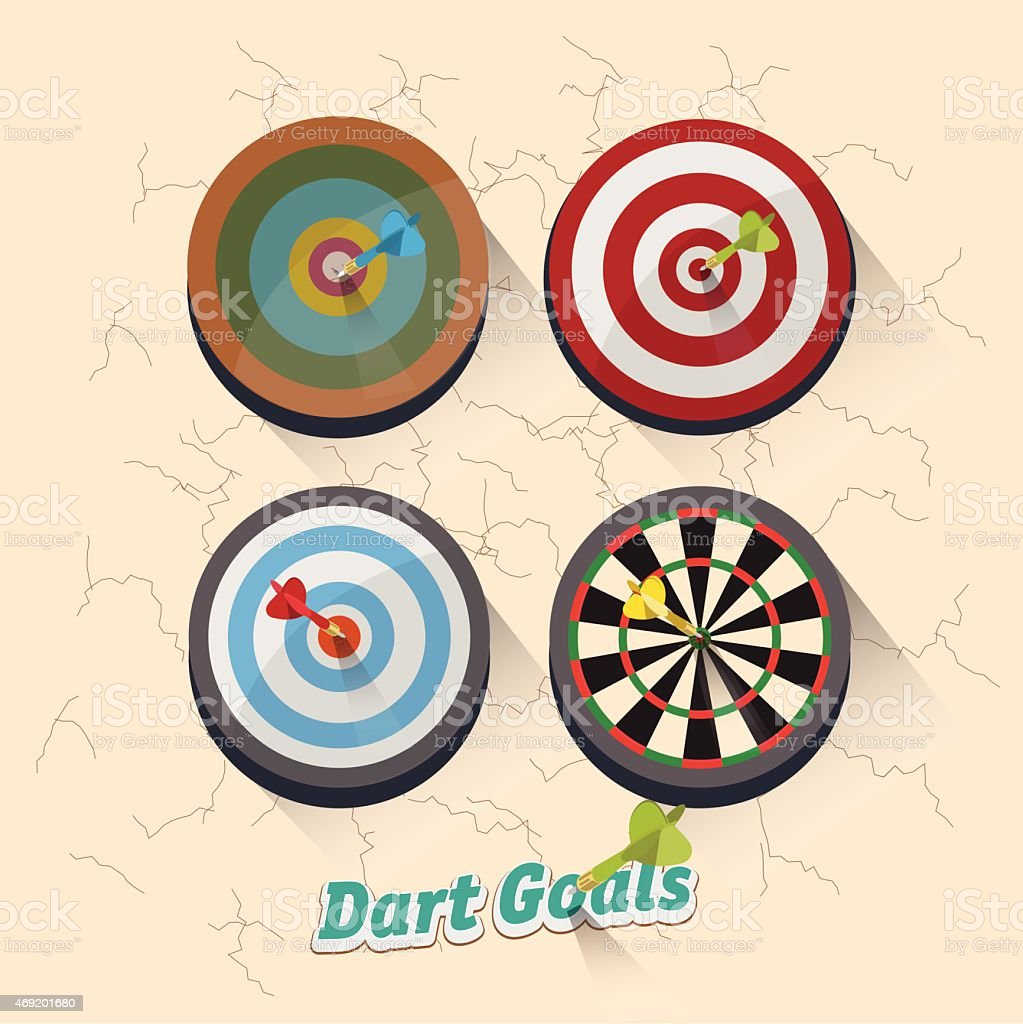 dartboard collection for darts game - vector illustration vector art illustration