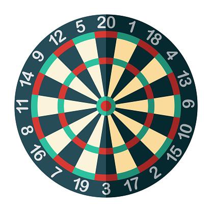 Dartboard Icon on Transparent Background