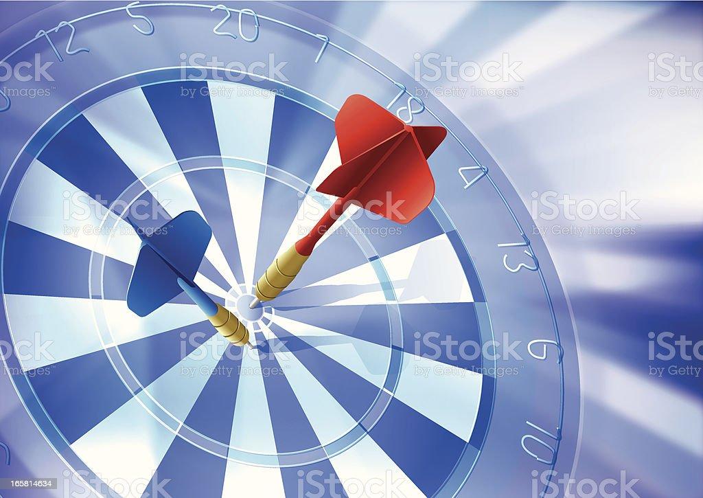Dartboard & Target Background royalty-free stock vector art