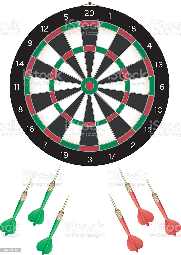 Dartboard royalty-free stock vector art
