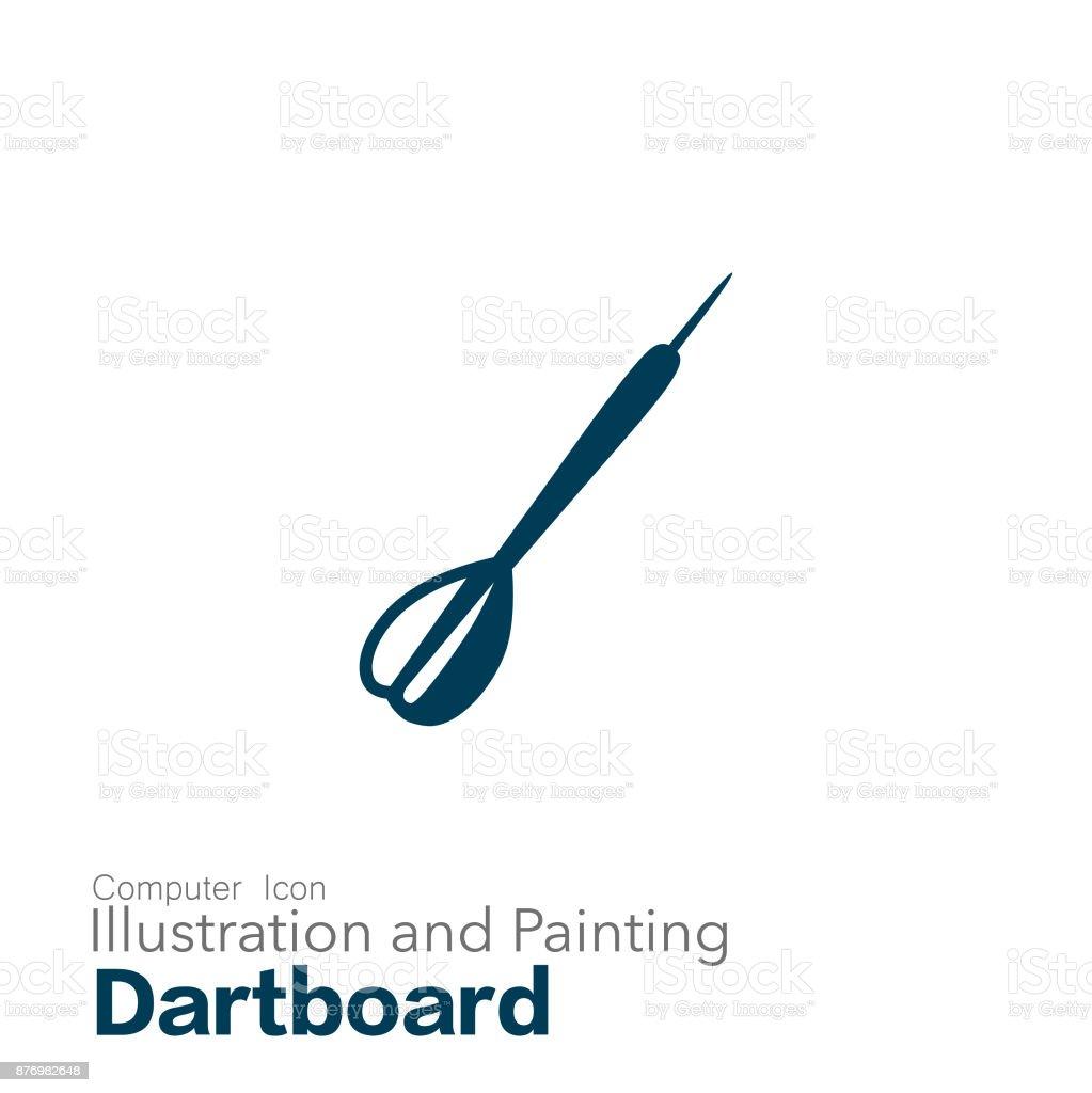 dartboard vector art illustration