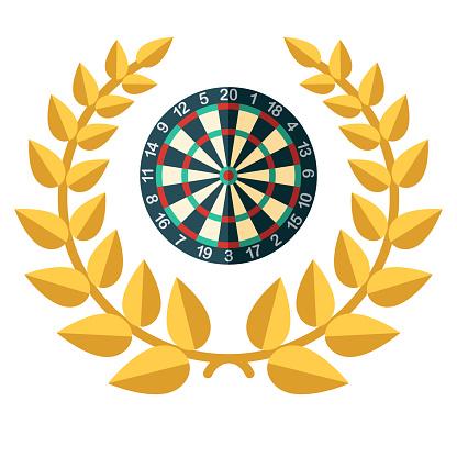 Darts Award Icon on Transparent Background