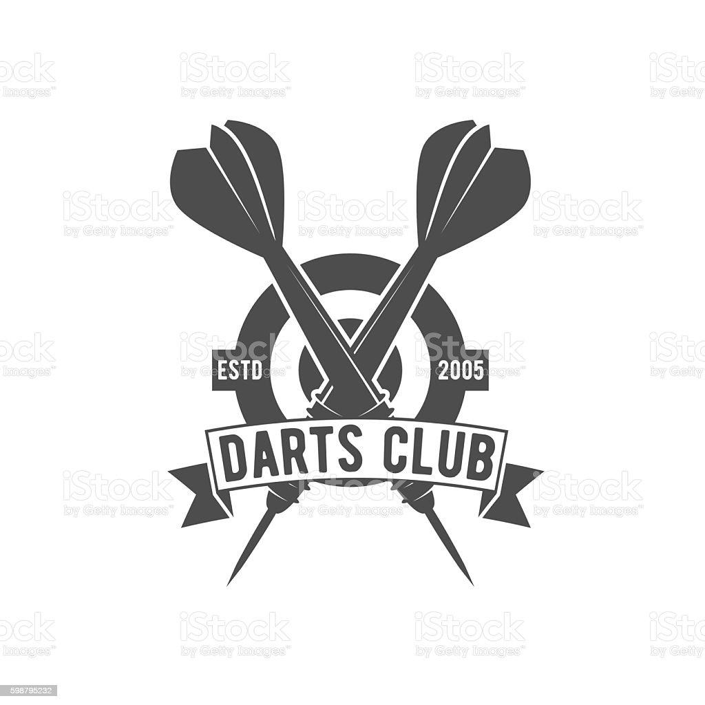 Darts label,  badge, vector logo vector art illustration