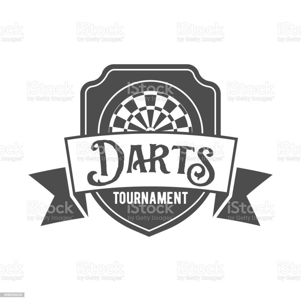 Darts label,  badge, vector symbol vector art illustration
